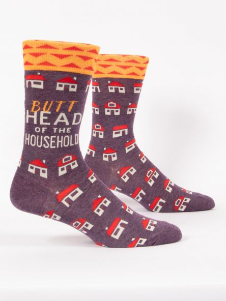 BUTTHEAD OF THE HOUSEHOLD M-CREW SOCKS - CityBarnCountryPenthouse