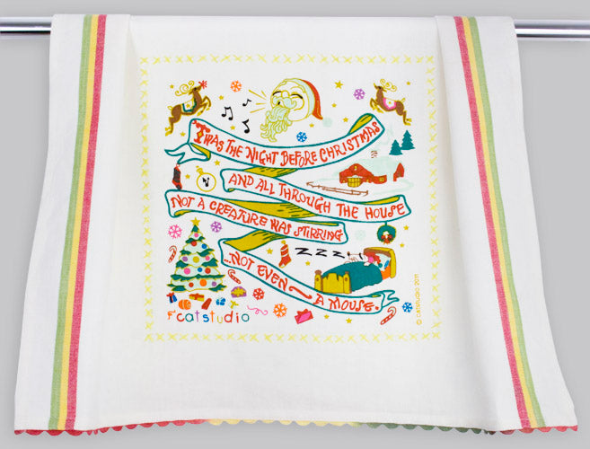Twas The Night Before Christmas Dish Towel - CityBarnCountryPenthouse