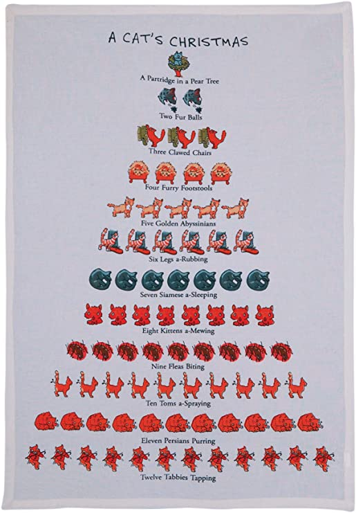 A Cat's Christmas Dish Towel - CityBarnCountryPenthouse