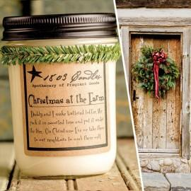 Christmas at the Farm Soy Jar Candle - CityBarnCountryPenthouse