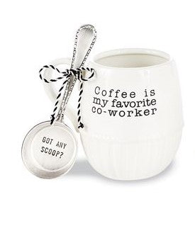 FAVORITE CO WORKER COFFEE MUG & SCOOP SETS - CityBarnCountryPenthouse