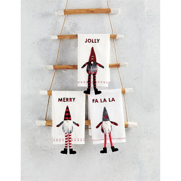 Jolly Dangle Leg Gnome Towel - CityBarnCountryPenthouse