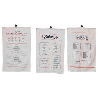 MENU COTTON TEA TOWEL - CityBarnCountryPenthouse