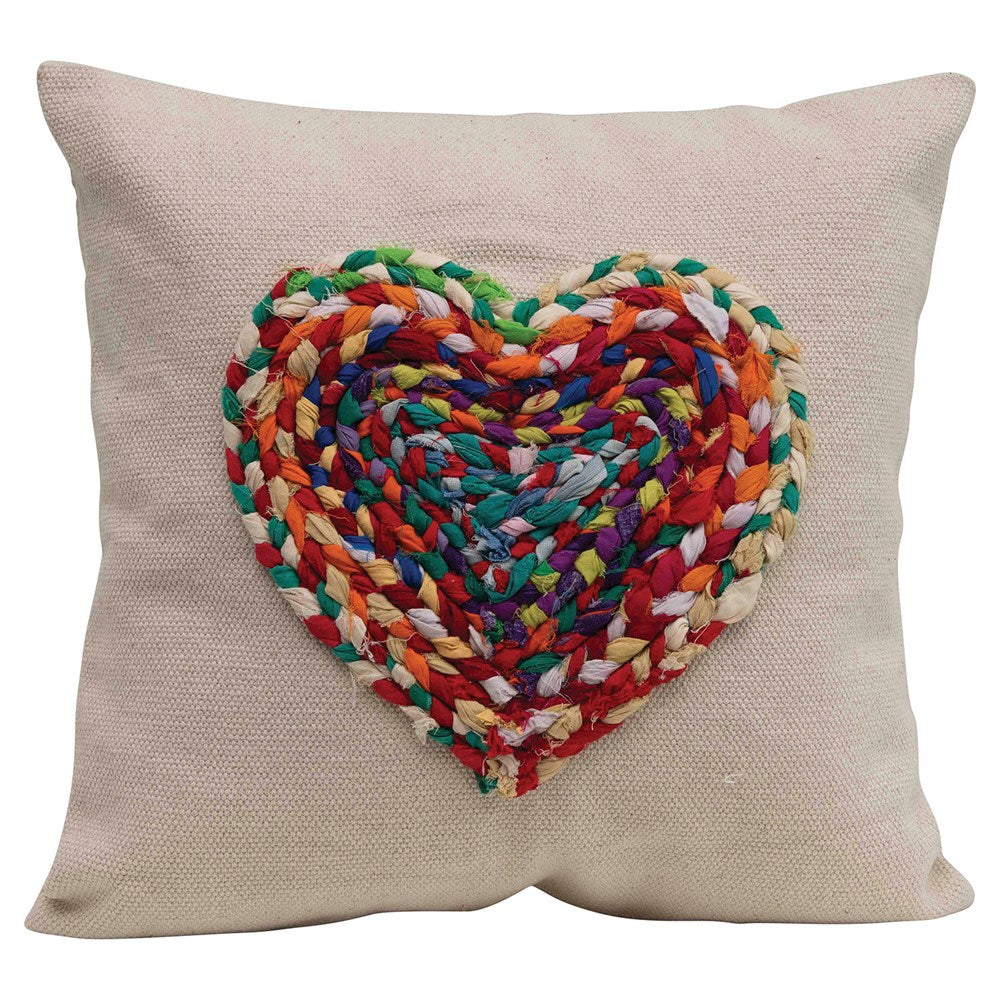 Chindi Fabric Heart COTTON PILLOW
