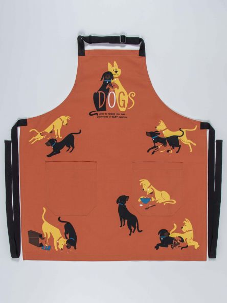 DOGS. HERE TO REMIND YOU THAT EVERYTHING IS VERY EXCITING APRON - CityBarnCountryPenthouse
