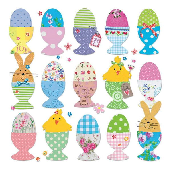 Easter Eggs Beverage Napkins - CityBarnCountryPenthouse