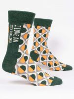 I LOVE AN EASY CHALLENGE M-CREW SOCKS - CityBarnCountryPenthouse