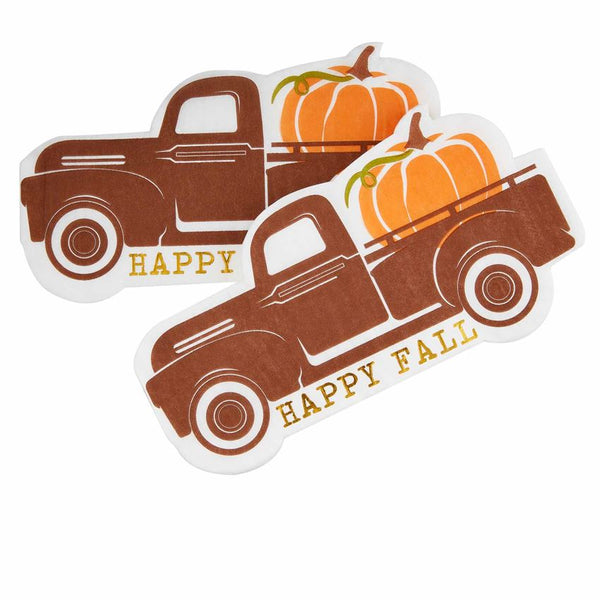 Fall Truck Paper Napkins - CityBarnCountryPenthouse