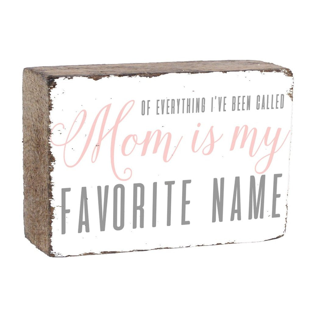 MY FAVORITE NAME XL RUSTIC BLOCK