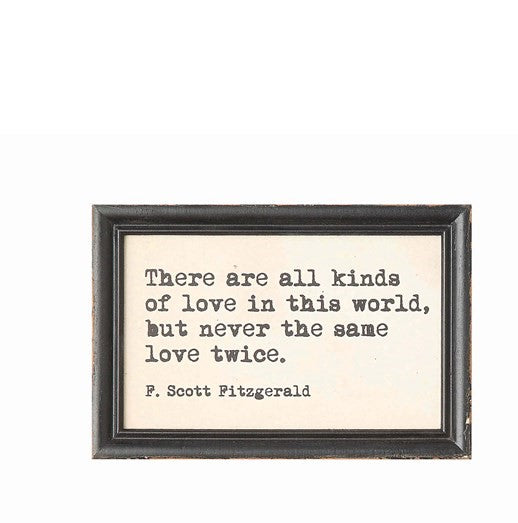 F Scott Fitzgerald wall saying - CityBarnCountryPenthouse