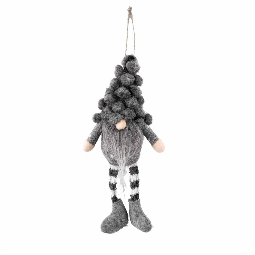 Fur Hat Gray Gnome Ornament - CityBarnCountryPenthouse