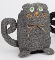CAT DOORSTOP - Grey - CityBarnCountryPenthouse