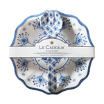 SALAD BOWL AND SERVERS GIFT SET MOROCCAN BLUE - CityBarnCountryPenthouse
