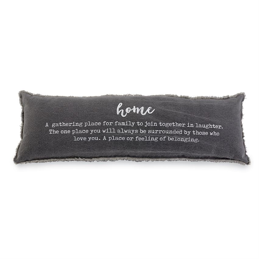WASHED CANVAS HOME DEFINITION PILLOW - CityBarnCountryPenthouse