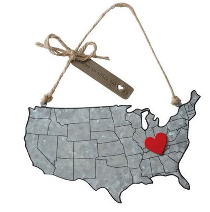 Home State Tin Ornament - CityBarnCountryPenthouse
