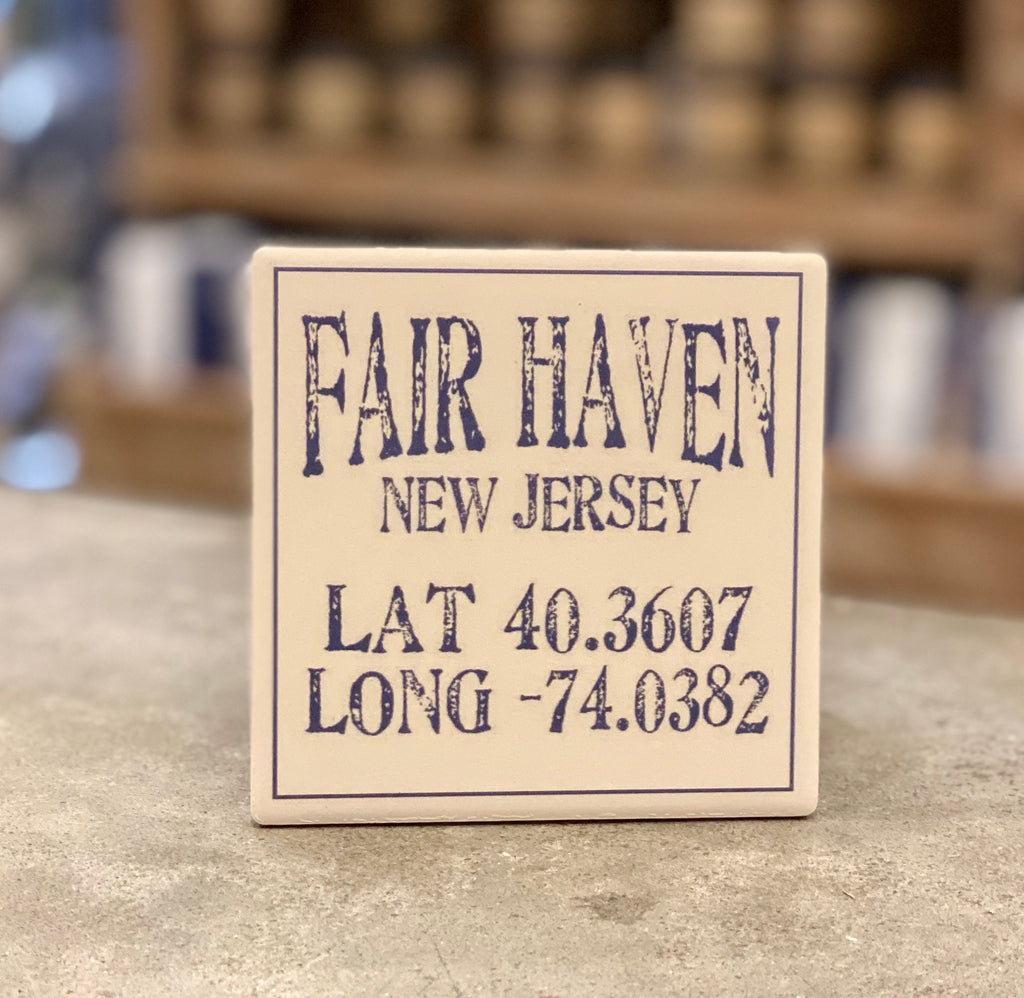 Fair Haven New Jersey lat/long Coaster - CityBarnCountryPenthouse