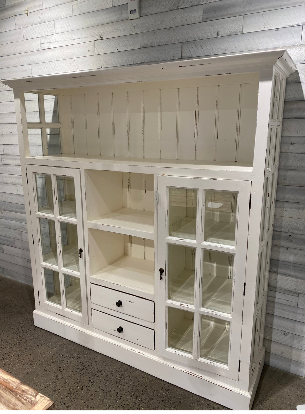 CAPE COD KITCHEN CUPBOARD W/ 2 DRAWERS - CityBarnCountryPenthouse