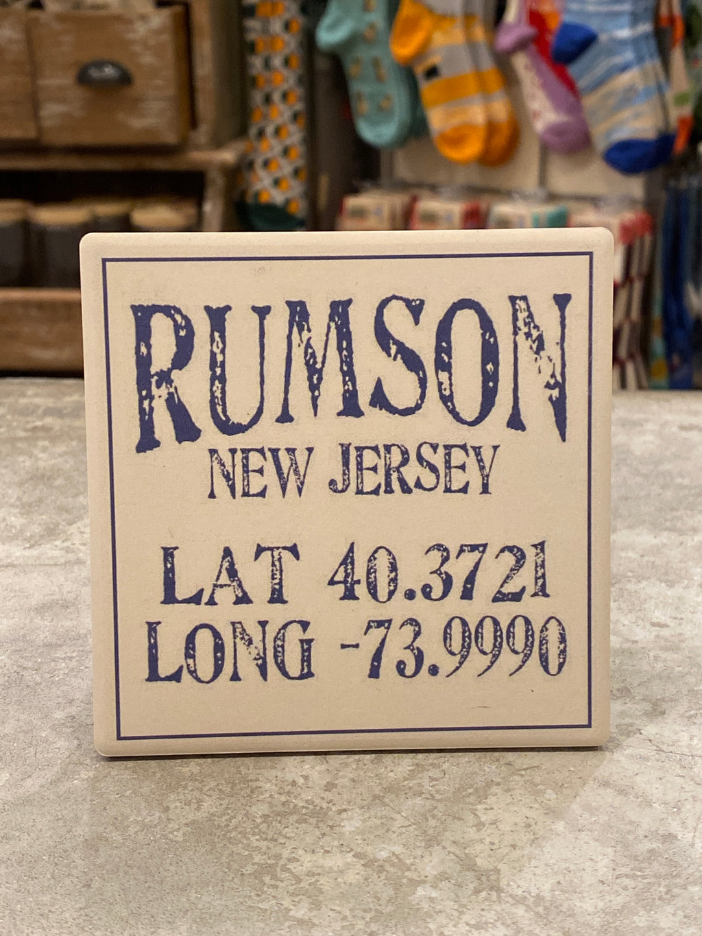 Rumson New Jersey lat/long Coaster - CityBarnCountryPenthouse