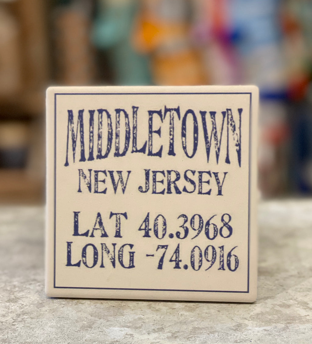 Middletown New Jersey lat/long Coaster - CityBarnCountryPenthouse