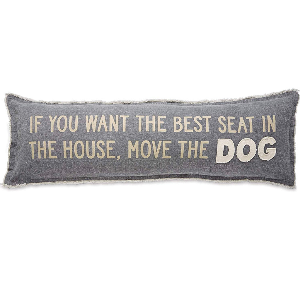 MOVE THE DOG LONG PILLOW - CityBarnCountryPenthouse