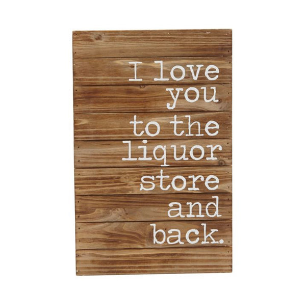 LIQUOR STORE AND BACK PLAQUE - CityBarnCountryPenthouse