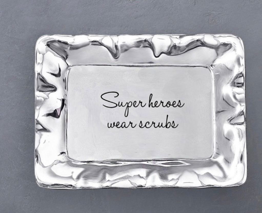 SUPER HEROES WEAR SCRUBS Rectangular Tray - CityBarnCountryPenthouse