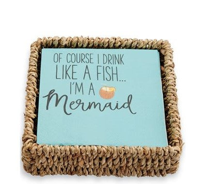 LIKE A FISH NAPKIN BASKET SET - CityBarnCountryPenthouse