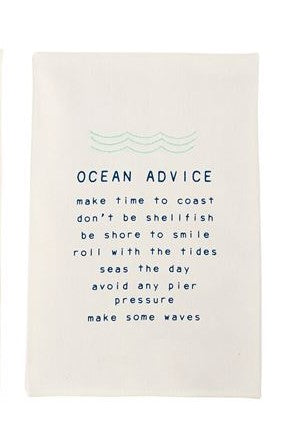 OCEAN ADVICE DISH TOWEL - CityBarnCountryPenthouse