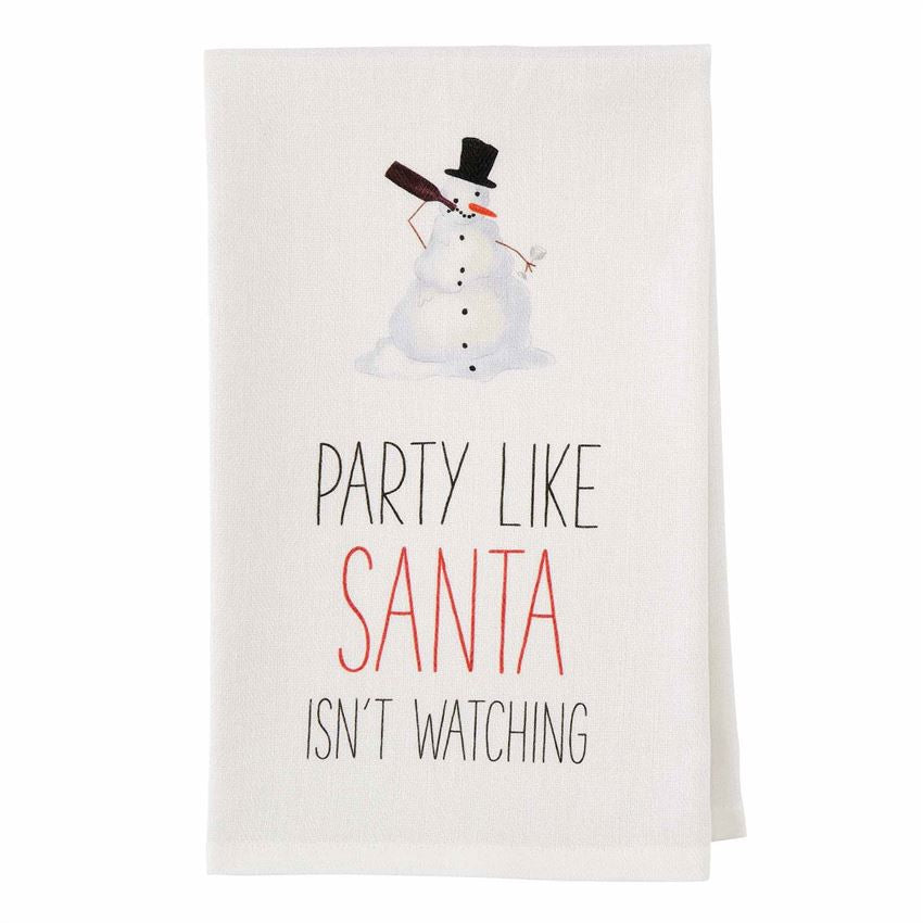 Party Like Santa Drinking Towel - CityBarnCountryPenthouse