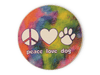 ABSORBENT STONE AUTO COASTER - PEACE LOVE DOG - CityBarnCountryPenthouse