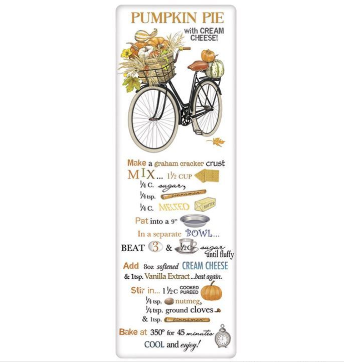 Pumpkins Bike Pumpkin Pie Recipe Towel - CityBarnCountryPenthouse