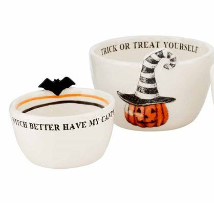 PUMPKIN NESTED DIP BOWL SET