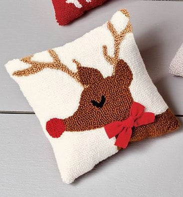 REINDEER MINI HOOK PILLOW - CityBarnCountryPenthouse