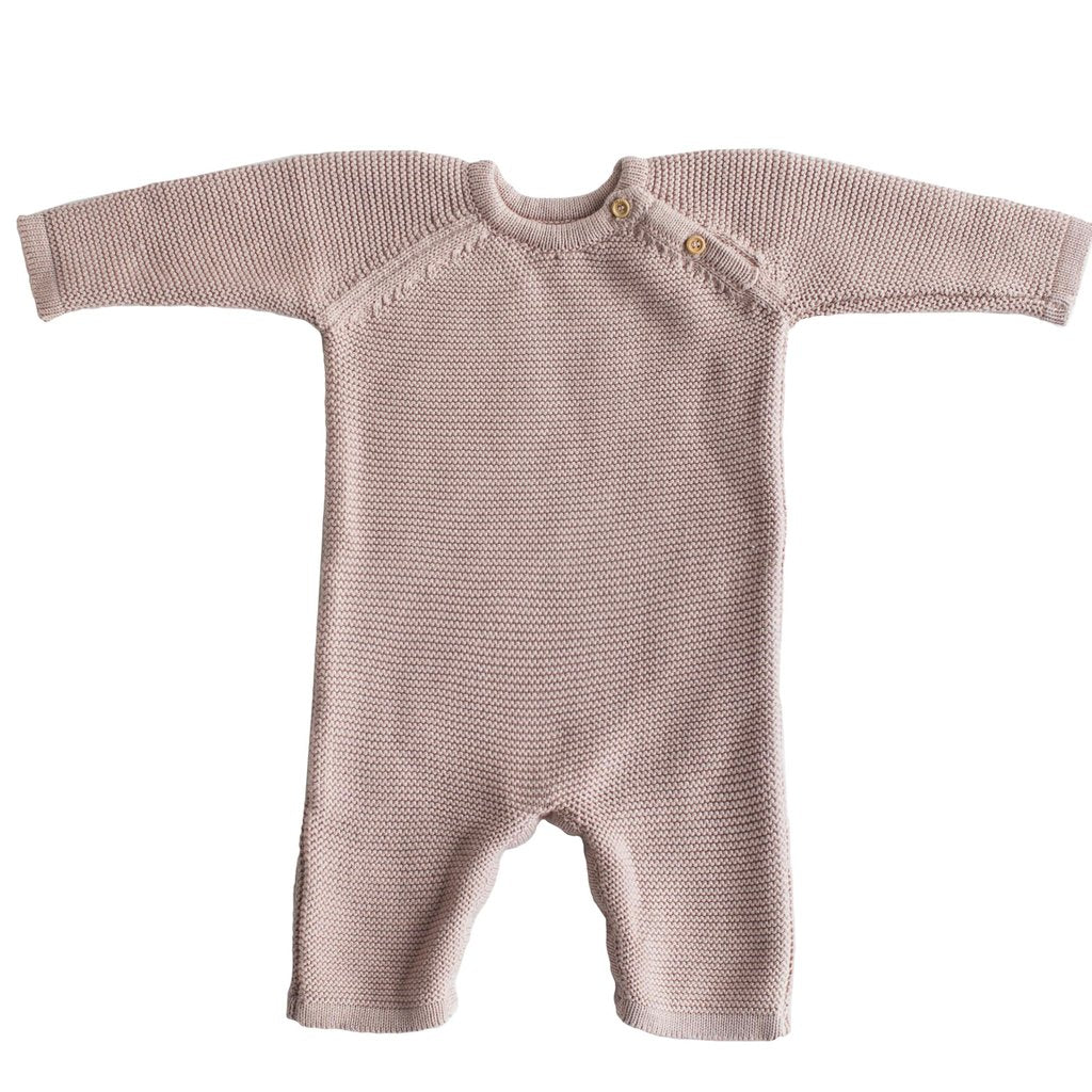 Organic Cotton Knit Baby Romper