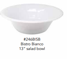 "BISTRO BIANCO SALAD BOWL 13"" - CityBarnCountryPenthouse"