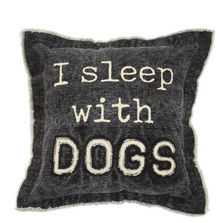 SLEEP WITH DOGS WASHED CANVAS PILLOW - CityBarnCountryPenthouse