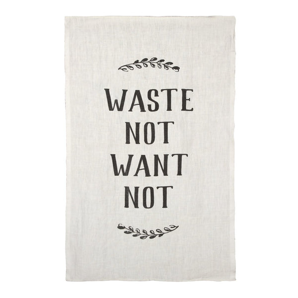 WASTE NOT, WANT NOT PURE LINEN TEA TOWEL - CityBarnCountryPenthouse