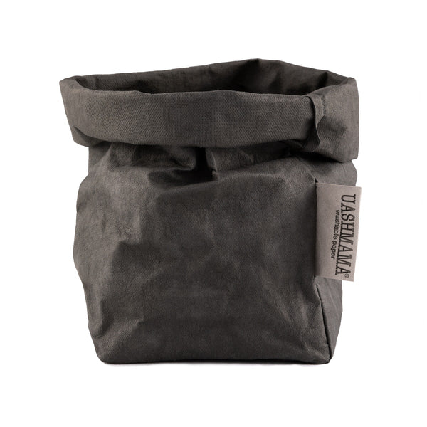 PAPER BAG SMALL DARK GREY - CityBarnCountryPenthouse