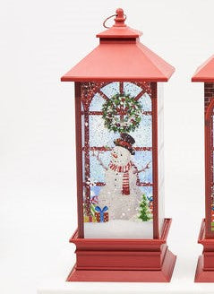 Christmas Lantern Lighted Silhouette - Snowman - CityBarnCountryPenthouse