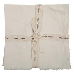 SOLID LINEN NAPKINS, OYSTER WHITE, SET OF 4 - CityBarnCountryPenthouse