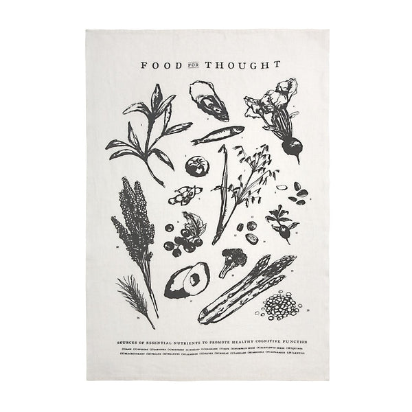 FOOD FOR THOUGHT PURE LINEN TEA TOWEL - CityBarnCountryPenthouse