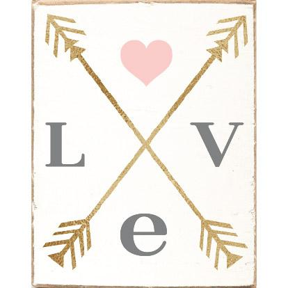 LOVE ARROWS RUSTIC BLOCK - CityBarnCountryPenthouse