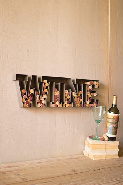 Metal wine cork holder - CityBarnCountryPenthouse