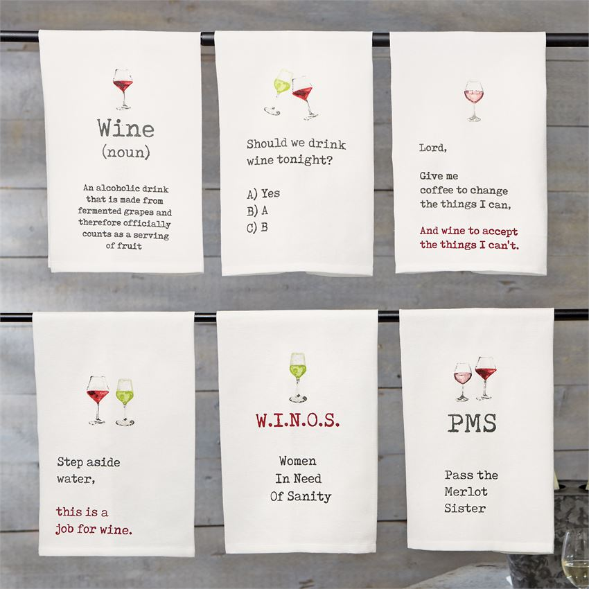 WINE DEFINITION WINE TOWEL - CityBarnCountryPenthouse