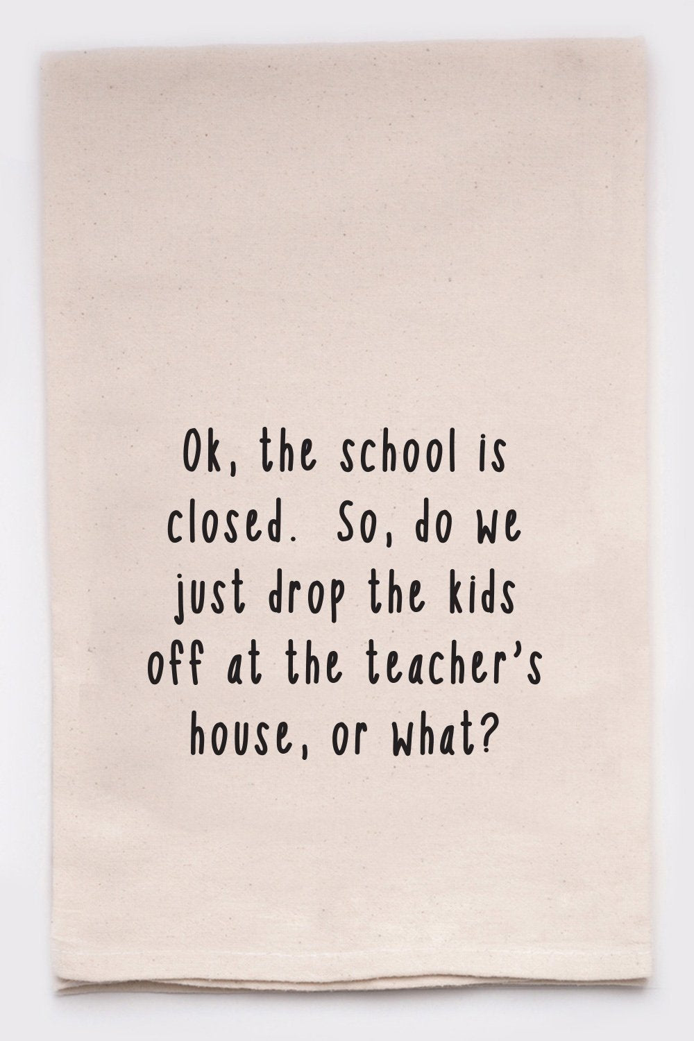 SCHOOL CLOSED  DISH TOWEL - CityBarnCountryPenthouse