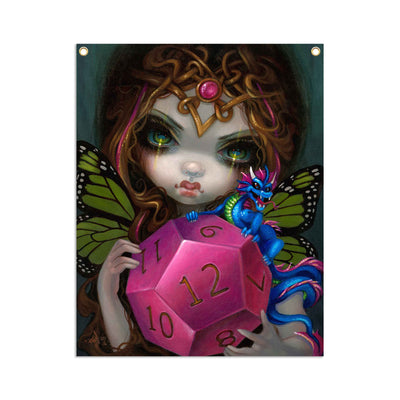 12 Sided Dice Fairy - Fabric Banner