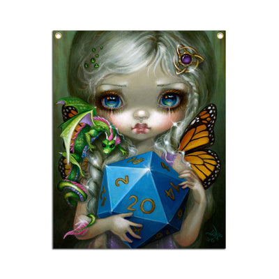 20 Sided Dice Fairy - Fabric Banner