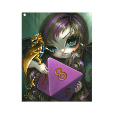 8 Sided Dice Fairy - Fabric Banner - artistvsart