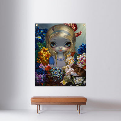 Alice With The Dormouse - Fabric Banner