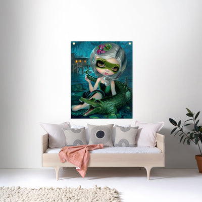 Alligator Girl - Fabric Banner